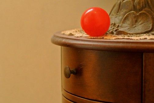 Pallina rossa mobiletto